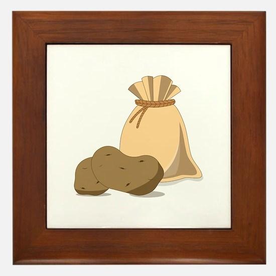 Potato Bag Framed Tile