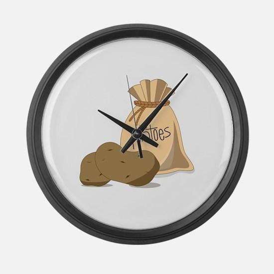Potatoes Large Wall Clock