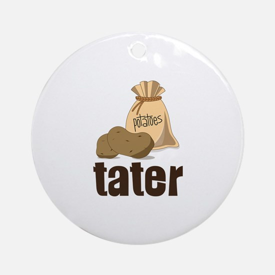 potatoes tater Ornament (Round)