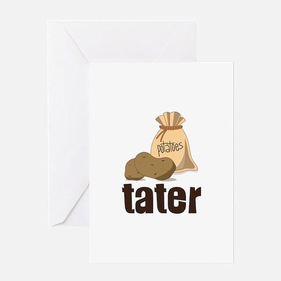 potatoes tater Greeting Cards