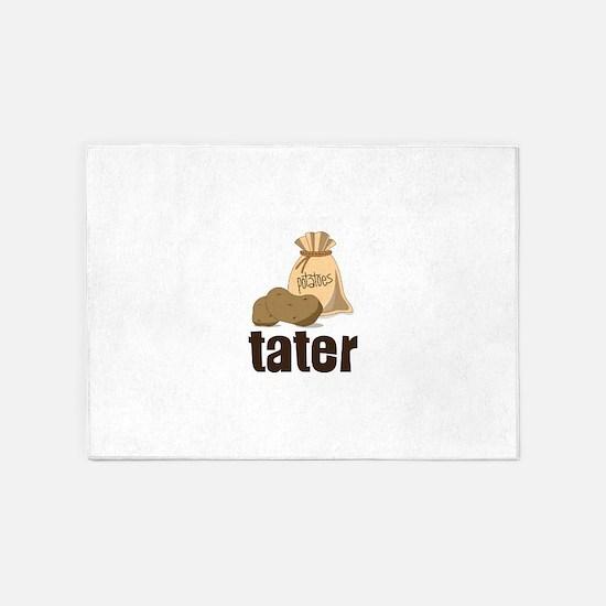 potatoes tater 5'x7'Area Rug
