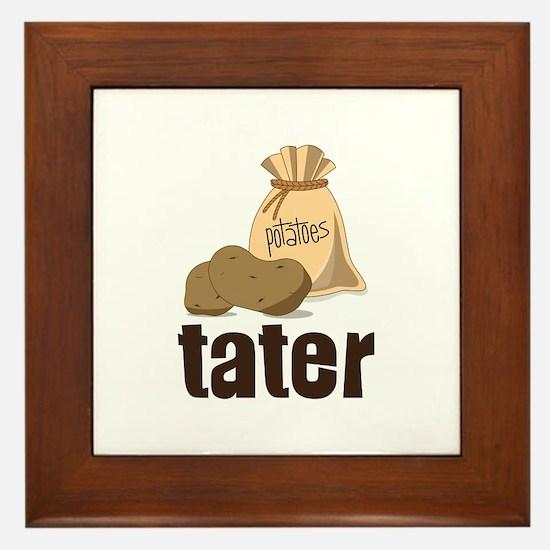 potatoes tater Framed Tile