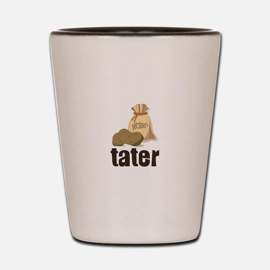 potatoes tater Shot Glass