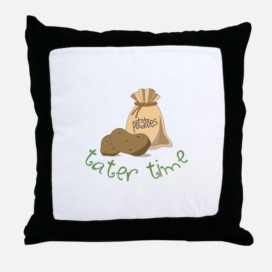 Potatoes tater time Throw Pillow