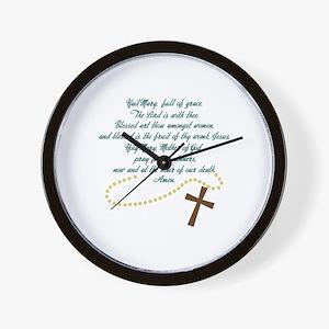 Hail Mary Wall Clock