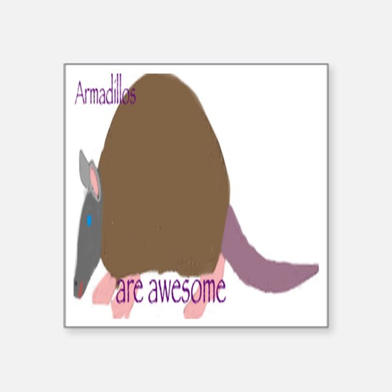 "Awesome  Square Sticker 3"" x 3"""