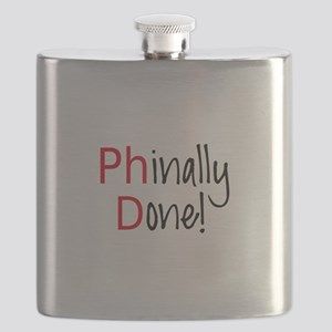 Phinally Done PhD graduate Flask