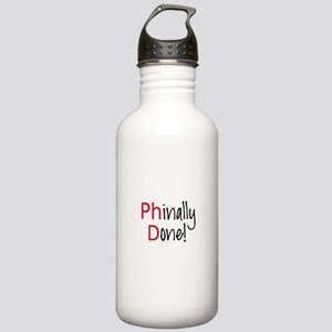 Phinally Done PhD graduate Water Bottle