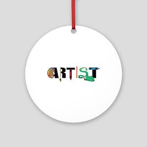 Artist Ornament (Round)