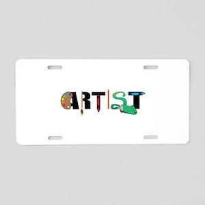 Artist Aluminum License Plate
