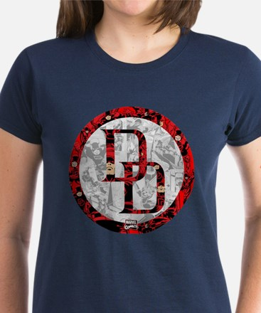 Daredevil Symbols Women's Dark T-Shirt