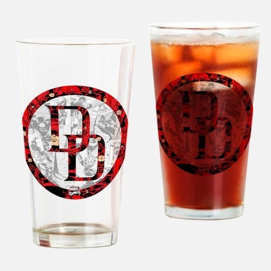 Daredevil Symbols Drinking Glass