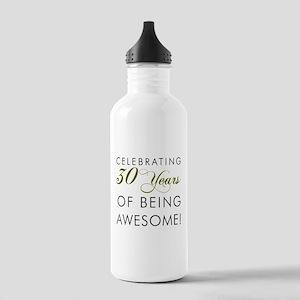 Celebrating 30 Years Drinking Glass Water Bottle