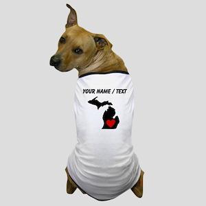 Custom Michigan Heart Dog T-Shirt