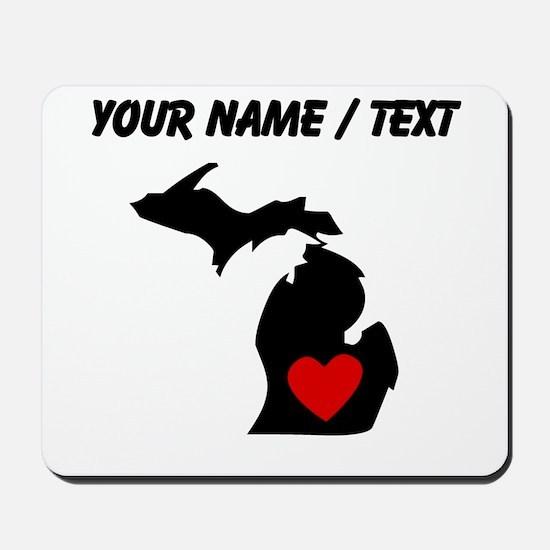 Custom Michigan Heart Mousepad