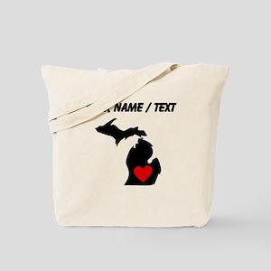Custom Michigan Heart Tote Bag
