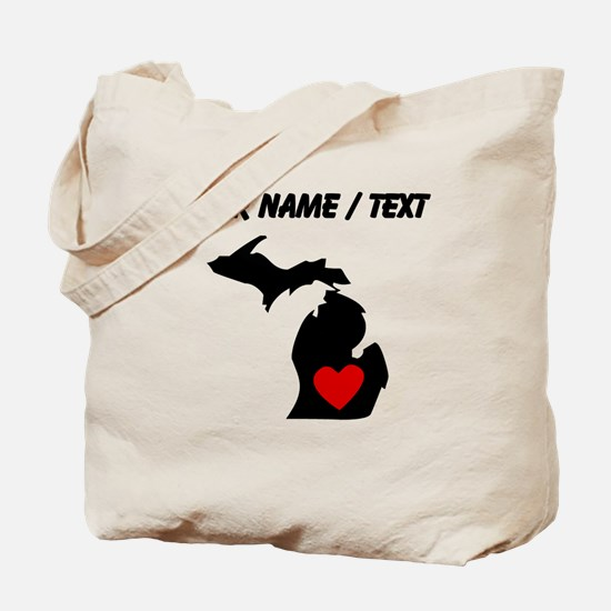 Custom Michigan Heart Tote Bag