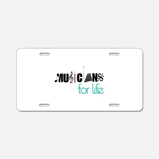 Musicians For Life Aluminum License Plate
