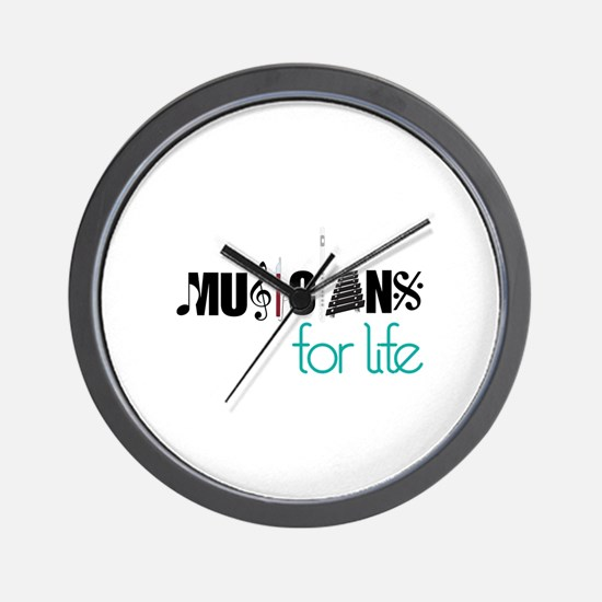 Musicians For Life Wall Clock