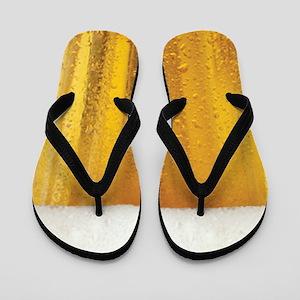 Very Fun Beer and Foam Design Flip Flops