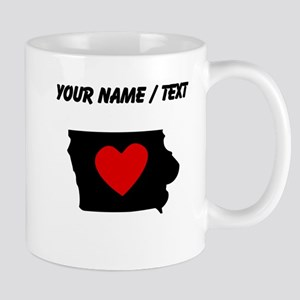 Custom Iowa Heart Mugs