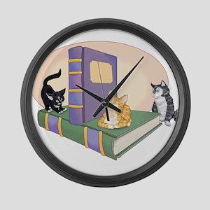 Kittys Tale Large Wall Clock
