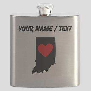 Custom Indiana Heart Flask
