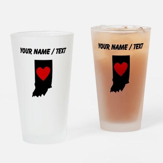 Custom Indiana Heart Drinking Glass