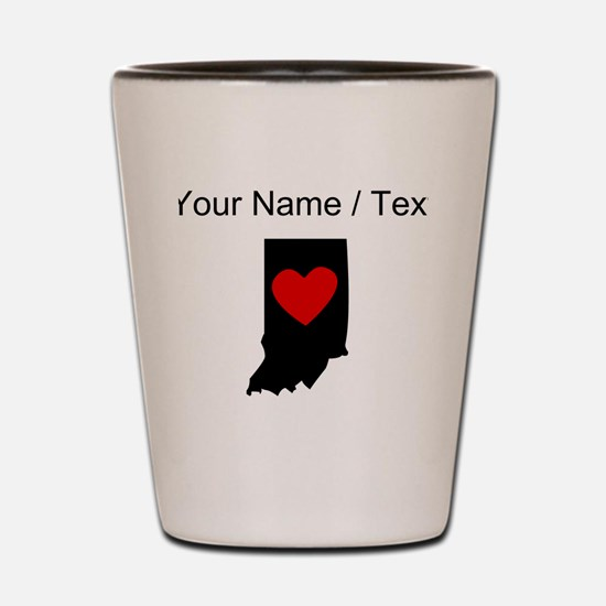 Custom Indiana Heart Shot Glass