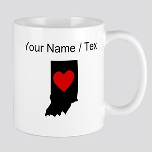 Custom Indiana Heart Mugs
