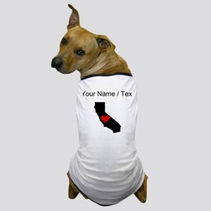 Custom California Heart Dog T-Shirt