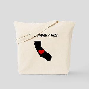 Custom California Heart Tote Bag