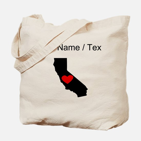Custom California Heart Tote Bag