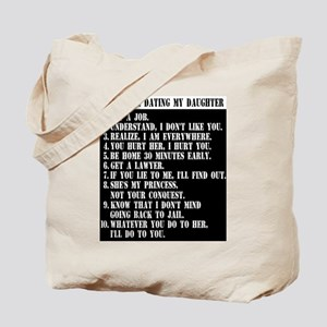 10 Rules For Dating My Daughter Tote Bag