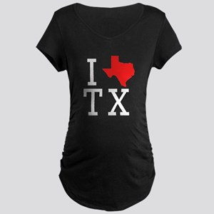 I Heart Texas Maternity T-Shirt