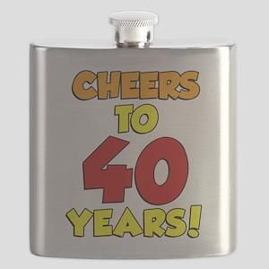 Cheers To 40 Years Drinkware Flask