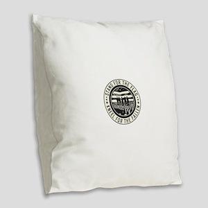Kneel For The Fallen Burlap Throw Pillow