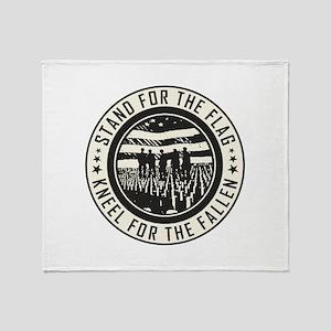Kneel For The Fallen Throw Blanket