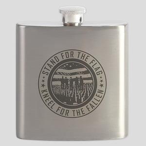 Kneel For The Fallen Flask