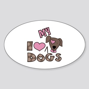 I Love My Dog Sticker