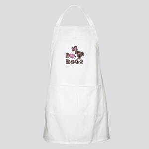 I Love My Dog Apron