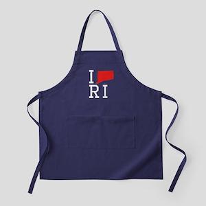 I Heart Rhode Island Apron (dark)