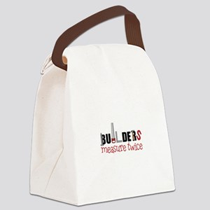 Builders Measure Twice Canvas Lunch Bag