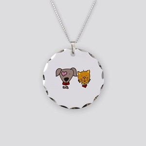 Dog and cat Necklace