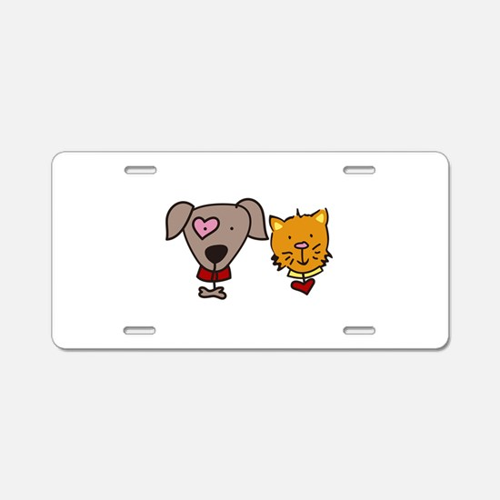 Dog and cat Aluminum License Plate