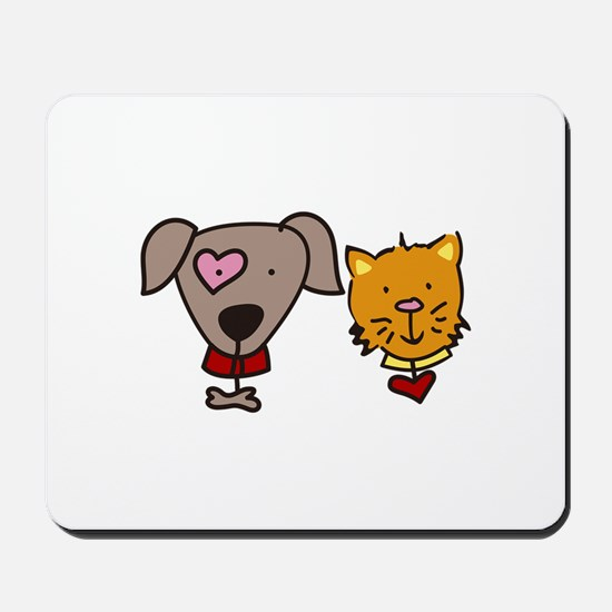 Dog and cat Mousepad