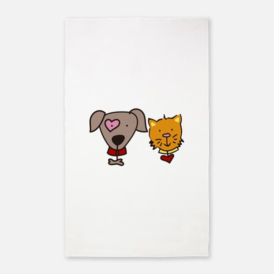 Dog and cat 3'x5' Area Rug