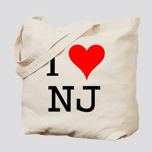 I Love NJ Tote Bag