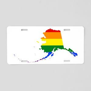 Alaska Pride Shirt Aluminum License Plate