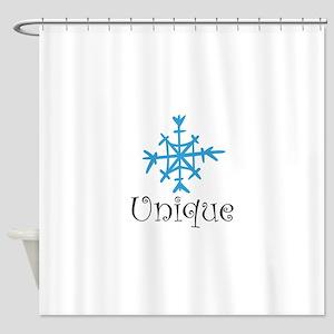 Unique SNowflake Shower Curtain